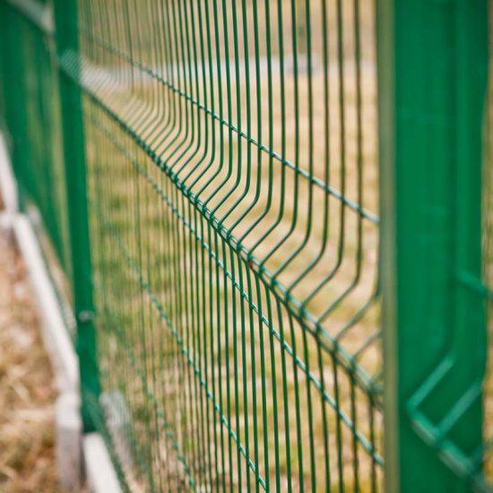 Ogrodzenie panelowe zielone malowane