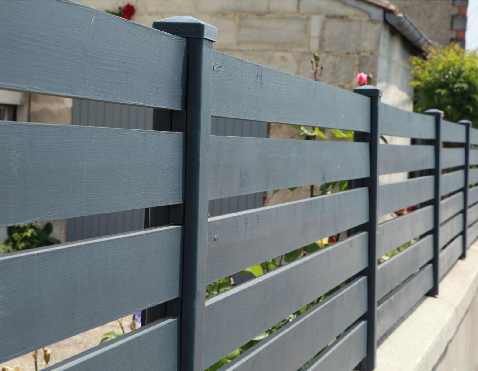 Drewniane ogrodzenie panelowe